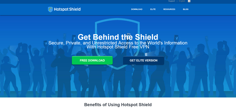Hotspot Shield for browser