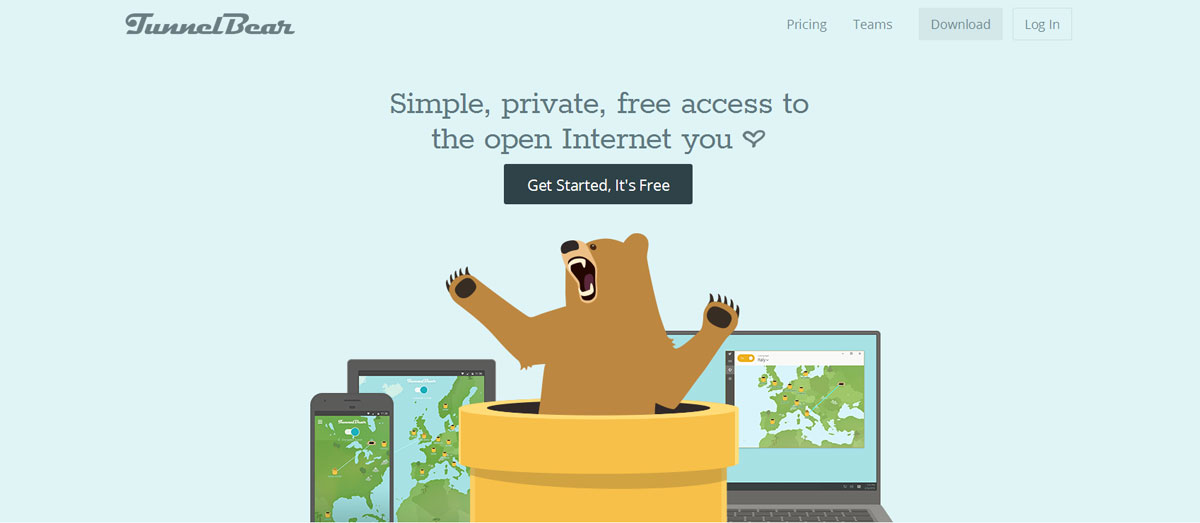 TunnelBear for browser